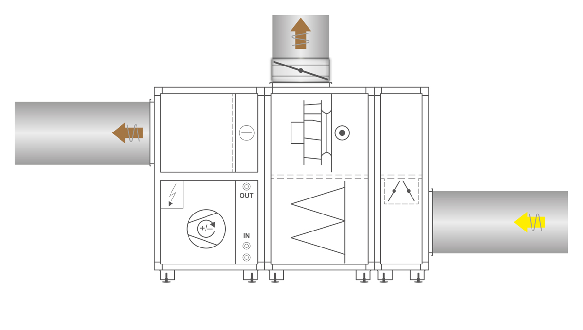 Home Concept Circuit Diagram Of The Proposed Aluminum Cooking Engine Using An Duct Connection For Bypassing Heat Recovery Coil Is Available As Option Ecoheater Can Be Used In Event Fire And When Pump