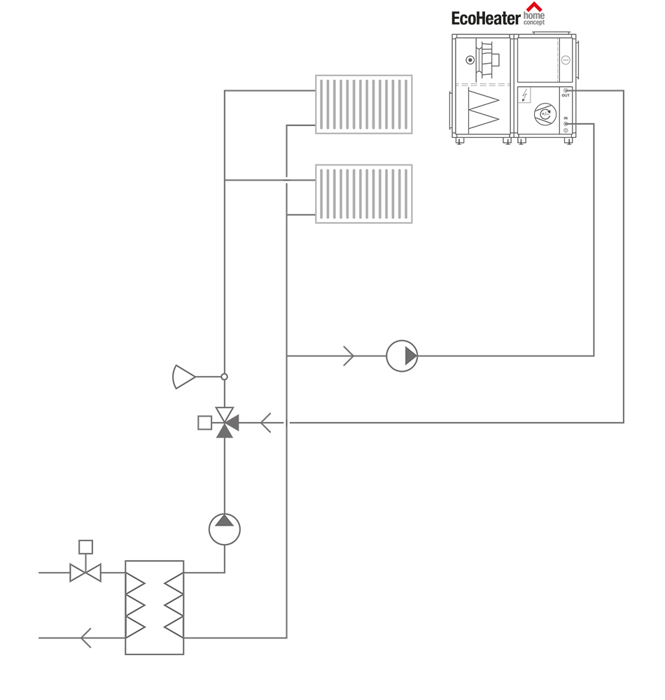 Home Concept Circuit Diagram Of The Proposed Aluminum Cooking Engine Using An Domestic Hot Water Will Also Be Connected To System In A Future Stage Schematic Connection 3