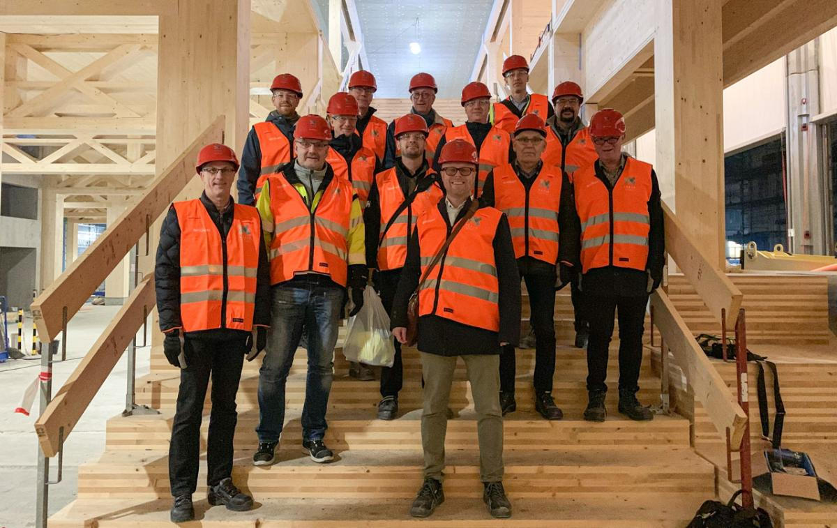 IV Produkt's product team visits the new station and city hall of Växjö, Sweden